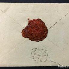 Sellos: SOBRE CIRCULADO CERTIFICADO VACIO, CARTA LACRADA SELLO DE LA DIRECCIÓN GRAL. DE CORREOS Y TELE. 1902. Lote 100033435