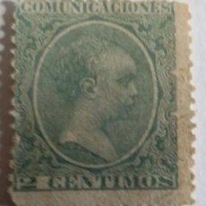 Sellos: SELLO 1889 COMUNICACIONES ALFONSO XIII. TIPO PELÓN. 2 CTS.. Lote 100044526