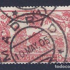 Sellos: EDIFIL 258 III CENTENARIO PUBLICACIÓN DE EL QUIJOTE 1905. EXCELENTE MATASELLOS DE MADRID. LUJO.. Lote 100544899