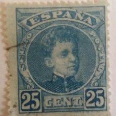 Sellos: SELLO 25 CTS. 1901 ALFONSO XIII. CADETE. TIPO VAQUER DE PERFIL. Lote 101367451