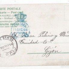 Sellos: POSTAL CON FRANQUICIA DEL CONGRESO. 1903. A GIJÓN. ASTURIAS. . Lote 101385115