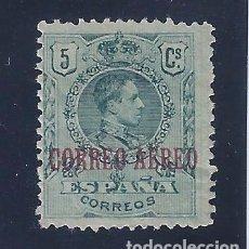 Sellos: EDIFIL 292 ALFONSO XIII. TIPO MEDALLÓN. SELLO DE 1909 HABILITADO CORREO AÉREO. 1920. MH *. Lote 102772251