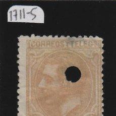 Francobolli: TELEGRAFOS - Nº 206 T º USADO 1879 - 50 CÉNTIMOS - ALFONSO XII . TALADRO/ TALADROS. Lote 103076279