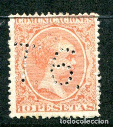 EDIFIL 228. 10 PTS ALFONSO XIII TIPO PELÓN. NUEVO SIN GOMA, TALADRO LETRAS T.6. (Sellos - España - Alfonso XIII de 1.886 a 1.931 - Nuevos)