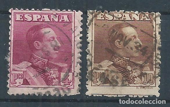 R25.G15/ ESPAÑA EDIFIL 322/23, USADOS, CATALOGO 29,25€ (Sellos - España - Alfonso XIII de 1.886 a 1.931 - Usados)