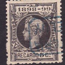 Sellos: CL5-1-ALFONSO XIII RECARGO MATASELLOS CARTERIA ESPELUY JAÉN. Lote 104300135