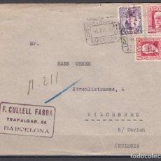 Sellos: CERTIFICADO BARCELONA A ZURICH , FRANQUEO MIXTO , . Lote 104532371