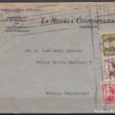 Sellos: CARTA PUBLICITARIA , BARCELONA A MELILLA , . Lote 104532571