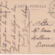 Sellos: F23-2-POSTAL. TRANVIAS CORREO INTERIOR BARCELONA 1920. MATASELLOS LUJO. Lote 105456323