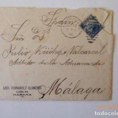 Sellos: CARTA DE CUBA A MALAGA, CIRCULADA D, JULIO KUHG, ADMINISTRADOR DE LA ADUANA, 1902,. Lote 109140183