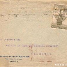 Sellos: SOBRE CIRCULADO DE MADRID A VALENCIA. OCTUBRE DE 1930. Lote 109341891
