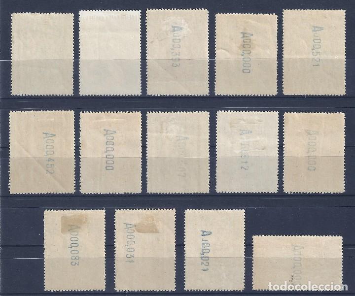 Sellos: EDIFIL 469-482 CONGRESO INTERNACIONAL DE FERROCARRILES 1930 (SERIE COMPLETA). CERTIFICADO CMF. MH * - Foto 3 - 109639507