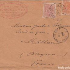 Francobolli: ALFONSO XII BONITO FRANQUEO BICOLOR. Lote 110594867