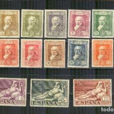 Sellos: EDIFIL 499/15 QUINTA GOYA TERRESTRE 1930 NUEVOS CENTRAJE NORMAL. Lote 110625023
