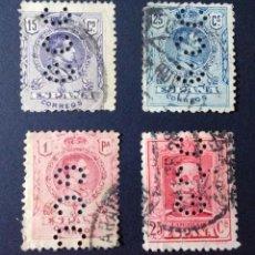 Sellos: LOTE DE SELLOS PERFORADOS. GCC, GARCIA CALAMARTE Y CIA. MADRID. PERFIN, PERFINS.. Lote 110775951