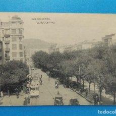 Sellos: ANTIGUA POSTAL , SAN SEBASTIAN - EL BOULEVARD - .... R-434. Lote 111489383