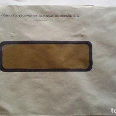 Sellos: SOBRE VENTANA COMPAÑÍA TELEFÓNICA NACIONAL DE ESPAÑA SELLO DE ALFONSO XIII 2 CS CORREOS ESPAÑA.. Lote 113235971