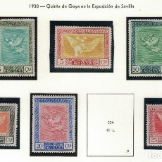 Sellos: ALFONSO XIII 1930 6 SELLOS DIVERSOS VALORES S056. Lote 113852631