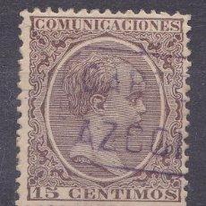 Sellos: CC6-ALFONSO XIII PELÓN MATASELLOS CARTERÍA AZCOITIA GUIPUZCOA. Lote 115042435