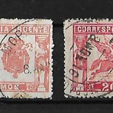 Sellos: ESPAÑA 1905-1925. PEGASO ROJO Y ROJO BRILLANTE USADO CHARNELA . Lote 115655571