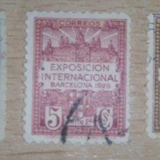 Sellos: ESPAÑA SPAIN BARCELONA 1929 EDIFIL 1-3 EXPOSICION INTERNACIONAL. Lote 115726343