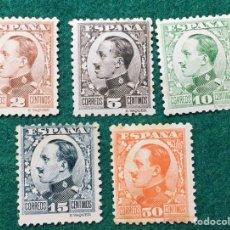 Sellos: ALFONSO XIII TIPO VAQUER DE PERFIL. Nº 490 A 493 Y 498. Lote 117457914