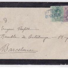 Sellos: CM2-73-CARTA LUTO MEDALLÓN MATASELLOS CARTERÍA VILADRAU-BARCELONA 1923. Lote 118465743