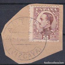Sellos: VIZCAYA.- SELLO ALFONSO XIII MATASELLOS SANTURCE. Lote 118581599