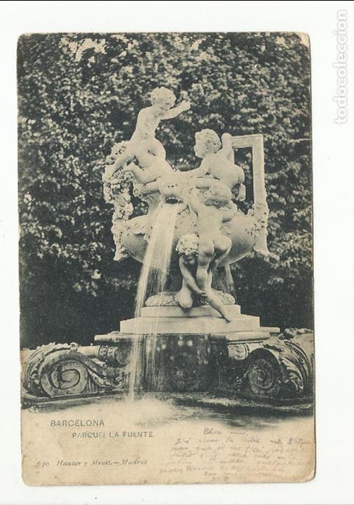 Sellos: postal fuente circulada 1904 de barcelona a montpellier francia ver foto - Foto 2 - 119215199