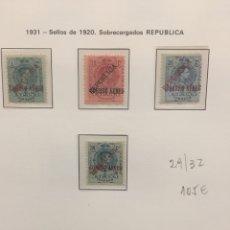 Sellos: EMISIONES LOCALES PATRIÓTICAS.1931-SELLOS 1920.SOBRECARGADOS REPÚBLICA.N 29/32. Lote 120979372