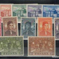 Sellos: SERIE DE 12 SELLOS DESCUBRIMIENTO DE AMERICA SERIE AEREA AÑO 1930. Lote 121058755