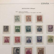 Sellos: 1936 SELLOS DE LA REPÚBLICA SOBRECARGADOS.ANTEQUERA( MALAGA) ^VIA ESPAÑA ^ JULIO 1936 N 1/8 NUEVO. Lote 121081158