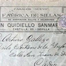 Sellos: CARTA ENTRE SEVILLA Y CÁDIZ. EDIFIL 270.. Lote 121539483