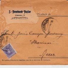 Sellos: SOBRE DE JOSÉ PUCHAL EN VINARÓS CON SOBRE DE F.DOMENECH PASTOR DE CASTEL,LÓN 1904. Lote 121660519