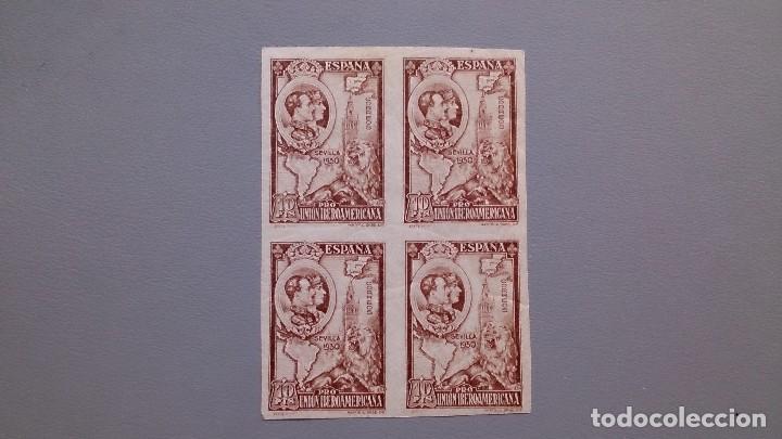ESPAÑA - 1930 - EDIFIL 580 S - SIN DENTAR - BLOQUE 4 - MNH** - NUEVOS - MARQUILLA ROIG - V.CAT. +60€ (Sellos - España - Alfonso XIII de 1.886 a 1.931 - Nuevos)