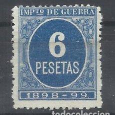 Sellos: IMPUESTO DE GUERRA 1898 NUEVO(*) 6.- PTS. Lote 122941743