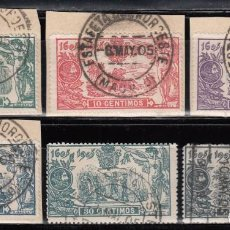 Sellos: ESPAÑA, 1905 EDIFIL Nº 257, 258, 259, 260, 261, 263, . Lote 125038439