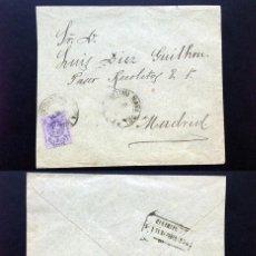 Sellos: ESPAÑA.AÑO 1911.CARTA CIRCULADA.. Lote 125343071