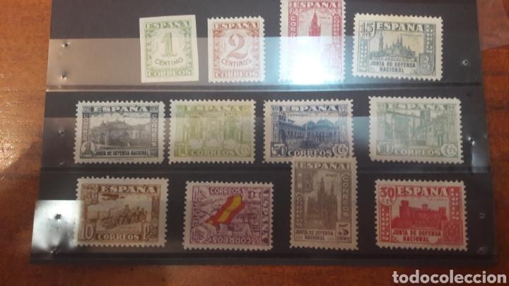 ESPAÑA 802/13 JUNTA DEFENSA 1936 NUEVO LEVE CHANNELA (Sellos - España - Alfonso XIII de 1.886 a 1.931 - Nuevos)