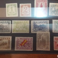 Sellos: ESPAÑA 802/13 JUNTA DEFENSA 1936 NUEVO LEVE CHANNELA. Lote 125996871