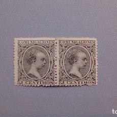 Sellos: ESPAÑA - 1889-1901 - ALFONSO XIII - EDIFIL 214 - PAREJA - MH* - NUEVOS - VALOR CATALOGO 105€.. Lote 126065759