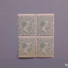 Sellos: ESPAÑA - 1889-1901 - ALFONSO XIII - EDIFIL 213 - MNH** - NUEVOS - BLOQUE DE 4 - TIPO PELON.. Lote 126066175