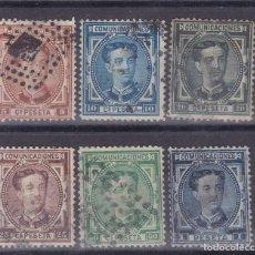 Sellos: BB18-. CLÁSICOS . ALFONSO XII X 6 VALORES USADOS + 60 EUROS. Lote 128493859