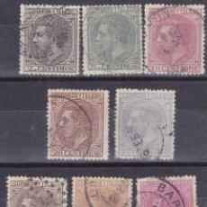 Sellos: BB19-. CLÁSICOS . ALFONSO XII X 8 VALORES USADOS + 50 EUROS LUJO. Lote 128493879