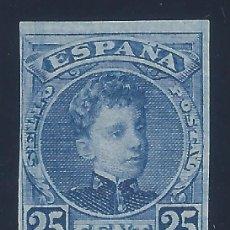 Sellos: EDIFIL 248 ALFONSO XIII. TIPO CADETE. 1901 (VARIEDAD...SIN DENTAR). VALOR CATÁLOGO: 33 €. MNH **. Lote 128956951