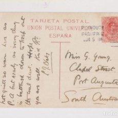 Sellos: POSTAL DEL PUERTO DE LA LUZ. CANARIAS A AUSTRALIA. 1911. PAQUEBOT. RARO DESTINO. . Lote 128971079