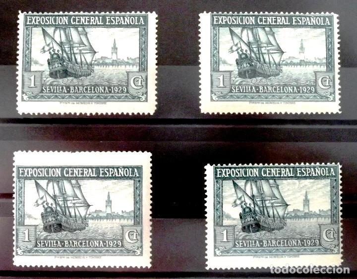 EDIFIL 434D, DENTADO 14, 4 SELLOS, EN NUEVO CON GOMA, SIN CHARNELA. (Sellos - España - Alfonso XIII de 1.886 a 1.931 - Nuevos)