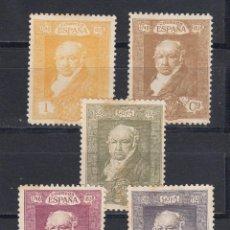 Sellos: 1930 EDIFIL 499/503* NUEVOS CON CHARNELA. GOYA. Lote 129999787