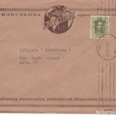 Sellos: CM1-25-CARTA IMPRESOS IMFORM BARCELONA 1925. Lote 130217859