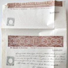 Sellos: HOJA COMPLETA PAGOS AL ESTADO AÑO 1888 - 7ª CLASE 5 PESETAS - MOTILLA DEL PALANCAR (CUENCA). Lote 130245298